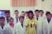 Тина Канделаки Казанның IT-лицеенда булды